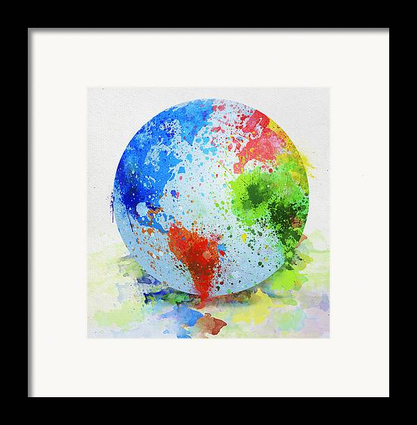 Adventure Framed Print featuring the painting Globe Painting by Setsiri Silapasuwanchai