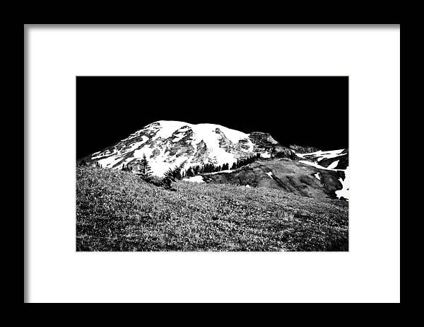 Mount Rainier Framed Print featuring the photograph Glorious Mount Rainier by David Patterson