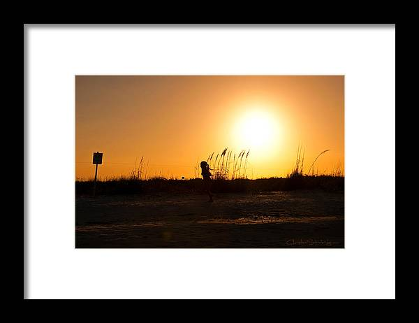 Sunset Framed Print featuring the photograph Glory Days by Christine Stonebridge