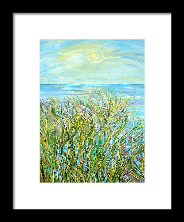 Landscape Framed Print featuring the painting Glory Days by Sara Credito