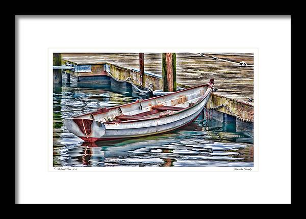 Boat Framed Print featuring the photograph Gloucester Dinghy by Richard Bean