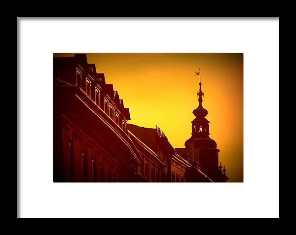 Krakow Framed Print featuring the photograph Glowing Balustrades by Lee Versluis
