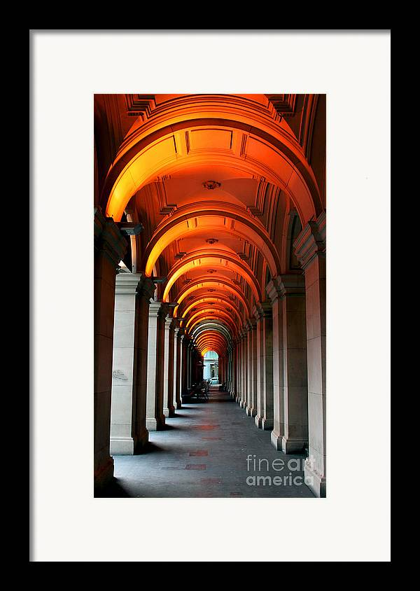Arch Framed Print featuring the photograph Glowing Iteration by Andrew Paranavitana