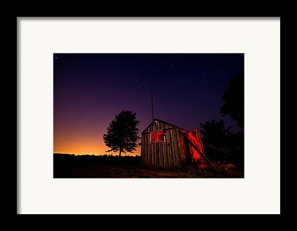 Shed Framed Print featuring the photograph Glowing Shed by Cale Best