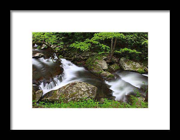 Water Framed Print featuring the photograph Go With The Flow by Shari Jardina