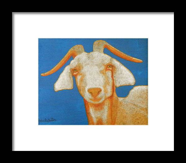 Goat Framed Print featuring the painting Goat by John Pinkerton