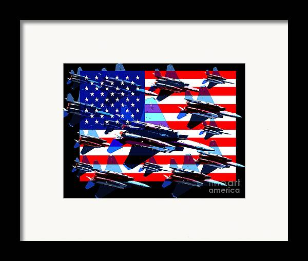 Transportation Framed Print featuring the photograph God Bless America Land Of The Free 2 by Wingsdomain Art and Photography