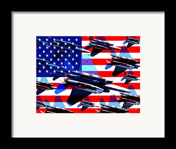 Transportation Framed Print featuring the photograph God Bless America Land Of The Free by Wingsdomain Art and Photography