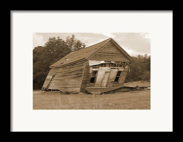 Old Building Framed Print featuring the photograph Going Down by Mike McGlothlen