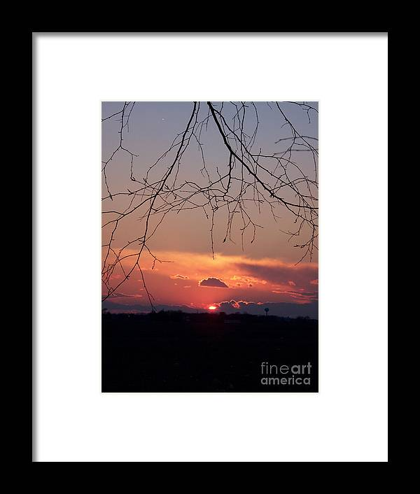 Color Photography Framed Print featuring the photograph Going Down by Sue Stefanowicz