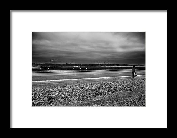 Alone Framed Print featuring the photograph Going Home...stockholm by Stelios Kleanthous