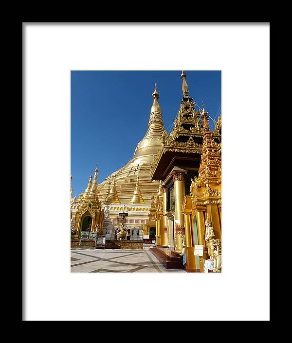 Myanmar Framed Print featuring the photograph Gold And Marble by Arnaud Fouche