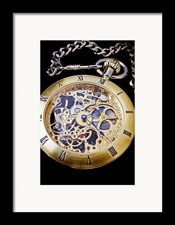 Time Framed Print featuring the photograph Gold Pocket Watch by Garry Gay