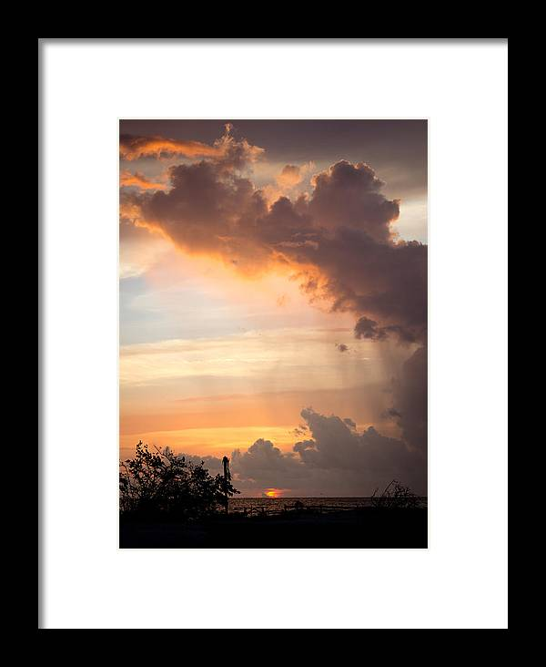 Landscape Framed Print featuring the photograph Golden Cloud by Marlo Laney