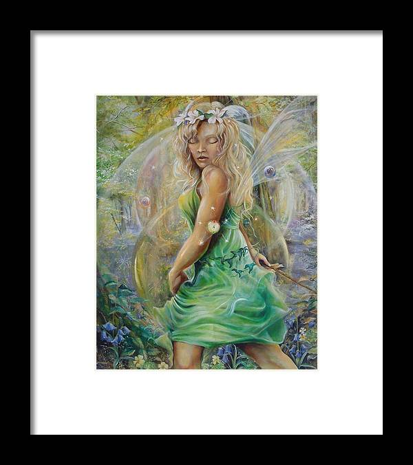 Fantasy Framed Print featuring the painting Golden Dawn by Penny Golledge