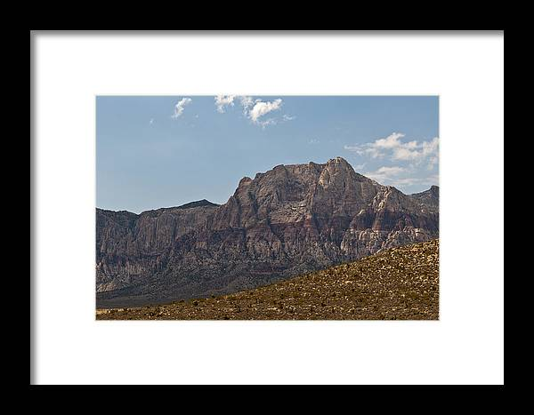 Red Rock Canyon Framed Print featuring the photograph Golden Desert by Daniel Milligan