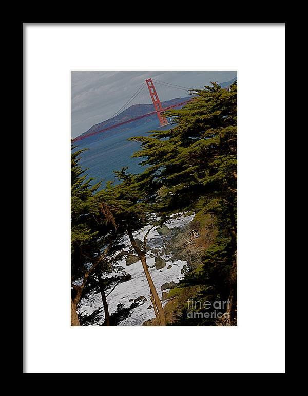 Golden Gate Bridge Framed Print featuring the photograph Golden Gate II by Polly Villatuya