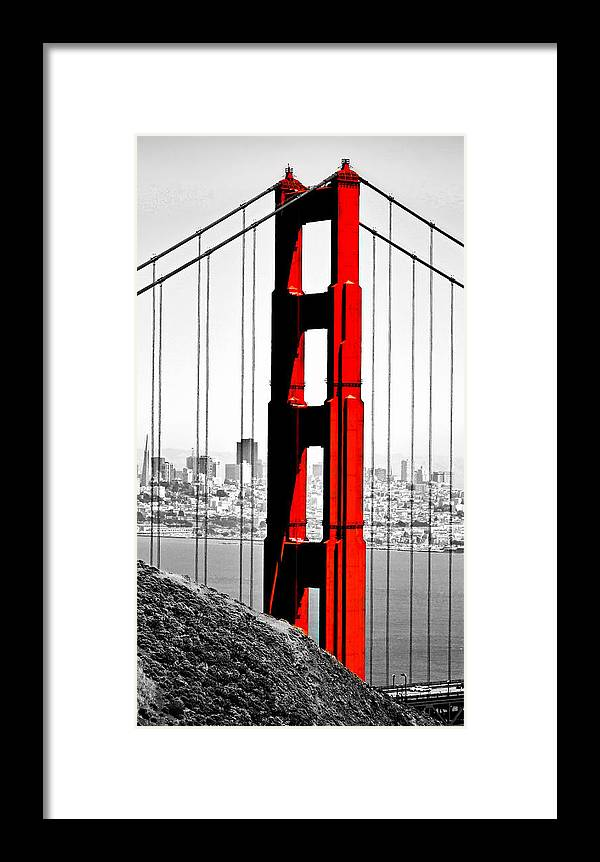 Golden Gate Framed Print featuring the photograph Golden Gate by James Fulton
