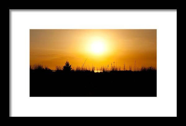 Sunset Framed Print featuring the photograph Golden Margarita Sunset by Christine Stonebridge