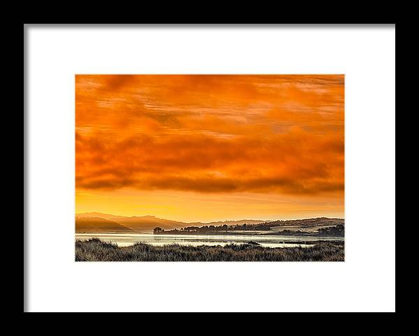 Humboldt Bay Framed Print featuring the photograph Golden Morning Over Humboldt Bay by Greg Nyquist