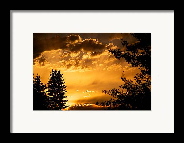 Sunset Framed Print featuring the photograph Golden Sky 2 by Kevin Bone