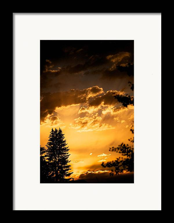 Sunset Framed Print featuring the photograph Golden Sky by Kevin Bone
