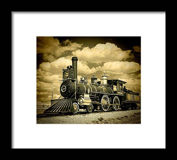 Train Framed Print featuring the photograph Golden Spike by Al Perry