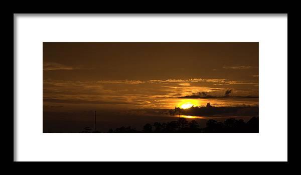 Landscape Framed Print featuring the photograph Golden Sunset by Anthony Walker Sr