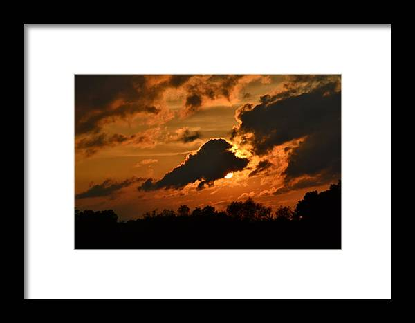 Sunset Framed Print featuring the photograph Golden by Valarie Davis