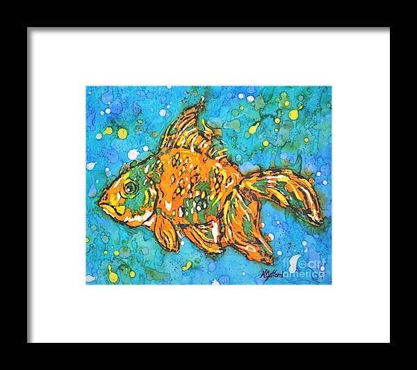 Painting Framed Print featuring the painting Goldfish by Norma Gafford