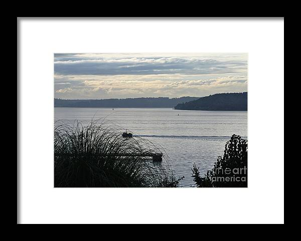 Puget Sound Framed Print featuring the photograph Gone Fishing by Paulina Roybal