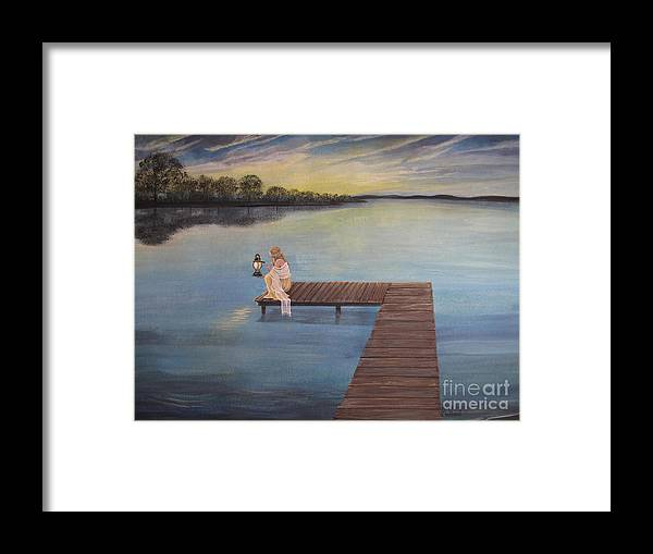 Summer Vacation Framed Print featuring the painting Good Morning World by Kris Crollard