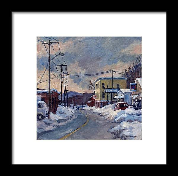 Oil Framed Print featuring the painting Goodyear by Thor Wickstrom
