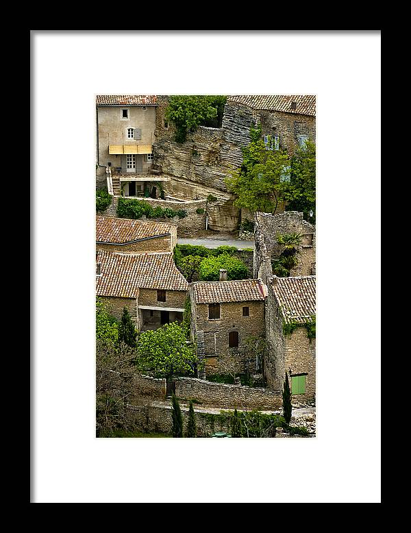 France Framed Print featuring the photograph Gordes France by Jim Painter
