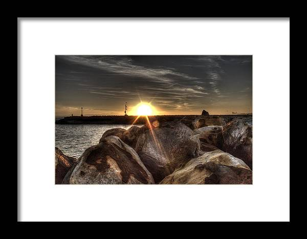 Sunset Framed Print featuring the photograph Gordons Bay Series 1 by Donne Beukes