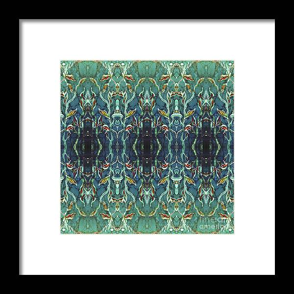 Blues Framed Print featuring the painting Graceleavz by Sue Duda