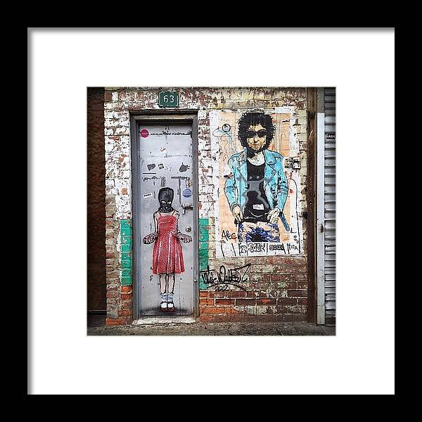 Summer Framed Print featuring the photograph Graffiti Artist by Randy Lemoine