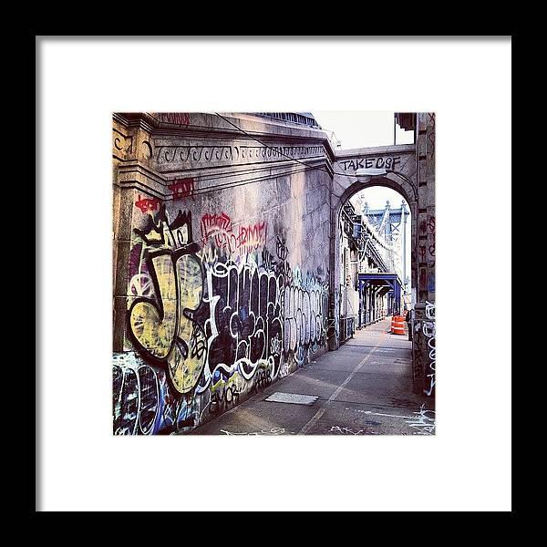 Summer Framed Print featuring the photograph Graffiti Bridge by Randy Lemoine