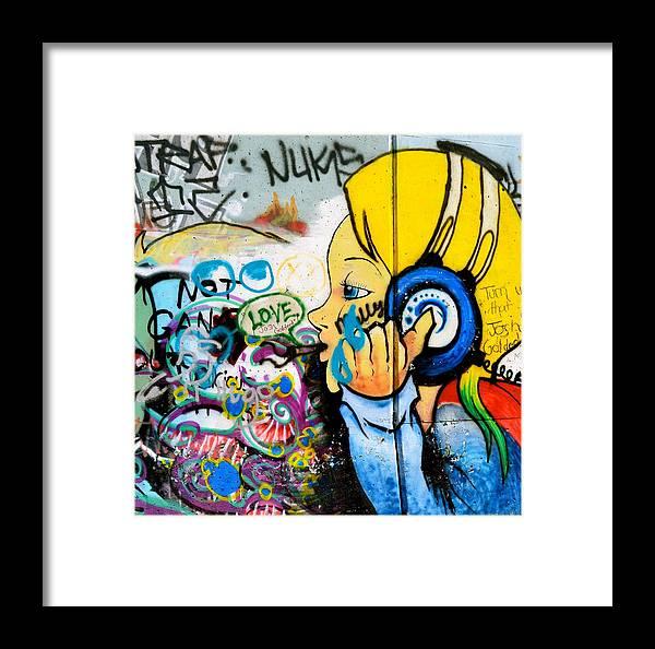 Graffiti Framed Print featuring the photograph Graffiti Jammin' by Emilie Sullivan