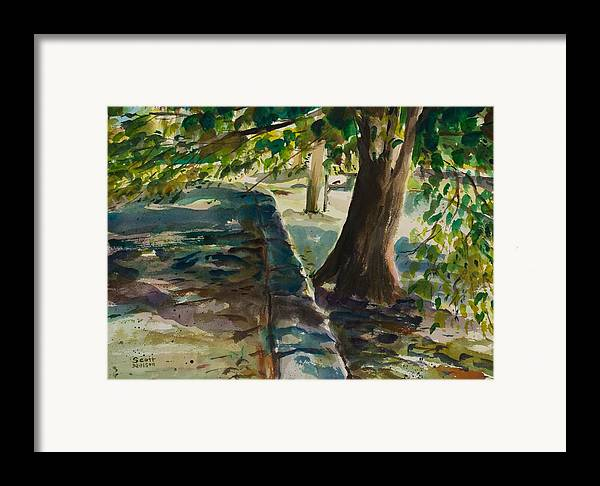 Watercolor Framed Print featuring the painting Grafton Wall by Scott Nelson