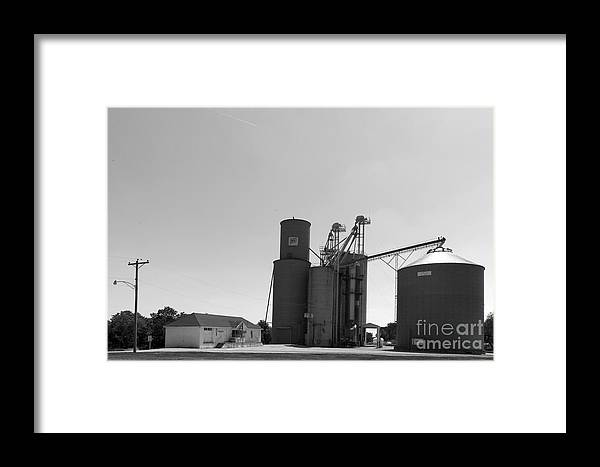 Grain Bin Framed Print featuring the photograph Grain Processing Facility In Shirley Illinois 2 by Alan Look