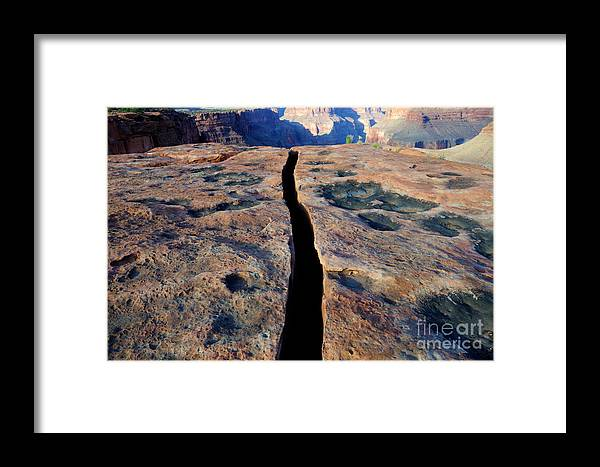 Grand Canyon Framed Print featuring the photograph Grand Canyon Dividing Line by Bob Christopher