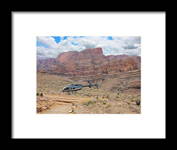 Grand Canyon- Helicopter Flight Framed Print featuring the photograph Grand Canyon- Helicopter Flight by Douglas Barnard