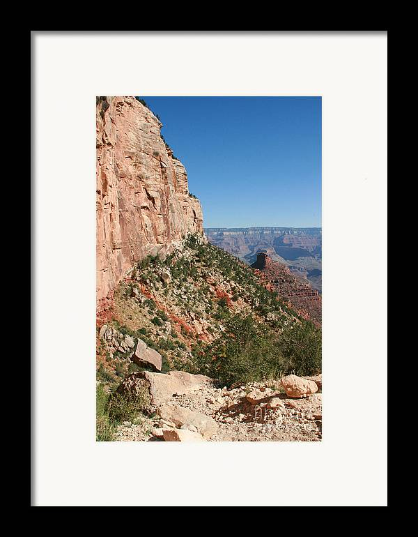 Adventure Framed Print featuring the photograph Grand Canyon National Park Bright Angel Loop Arizona Usa by Audrey Campion
