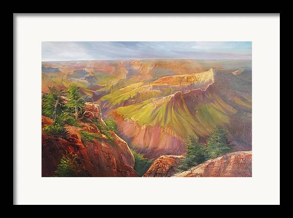 Grand Canyon Framed Print featuring the painting Grand Canyon by Robert Carver