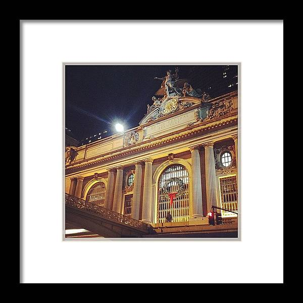 Europe Framed Print featuring the photograph Grand Central Christmas Wreath by Randy Lemoine
