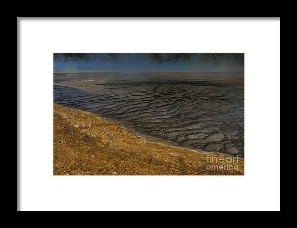 Yellowstone Framed Print featuring the photograph Grand Prismatic Spring Runoff by Sandra Bronstein