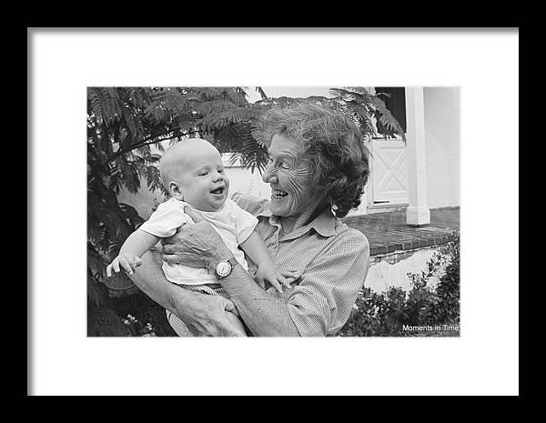 America Framed Print featuring the photograph Grandchild 1970s by Glenn McCurdy