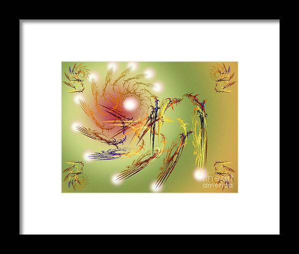 Fine Art Framed Print featuring the digital art Grandeur Of The 12 Moons by Andee Design
