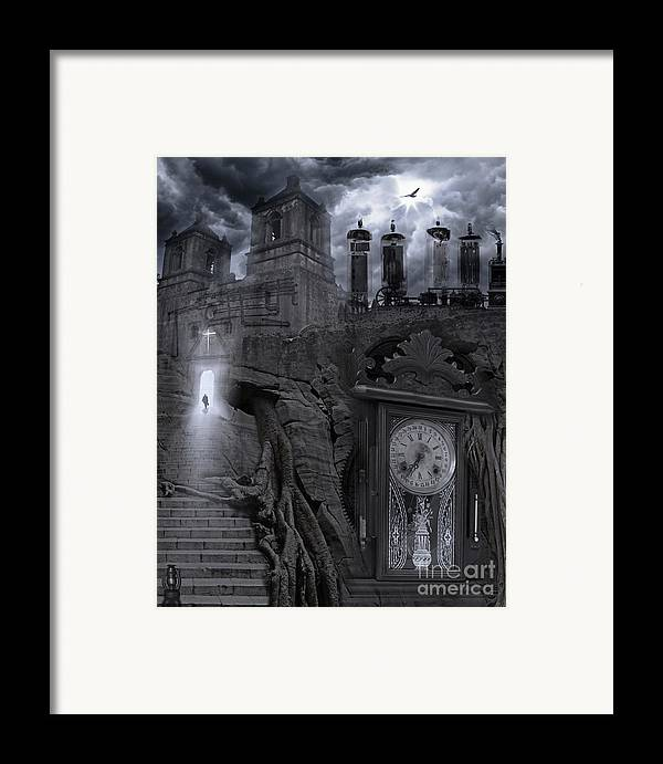 Spirituality Framed Print featuring the photograph Grandpa's Clock by Keith Kapple